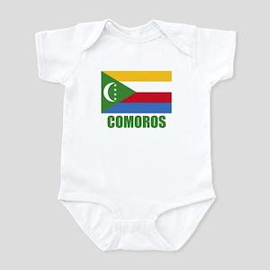 Comoros Flag Infant Bodysuit