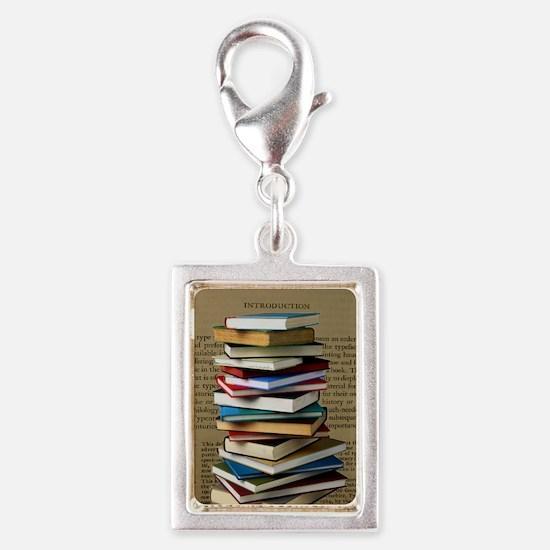 Book Lovers Blanket 2 Silver Portrait Charm