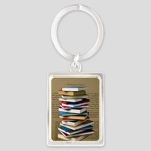 Book Lovers Blanket 2 Portrait Keychain