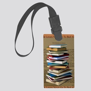 Book Lovers Blanket 2 Large Luggage Tag
