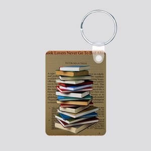 Book Lovers Blanket 2 Aluminum Photo Keychain