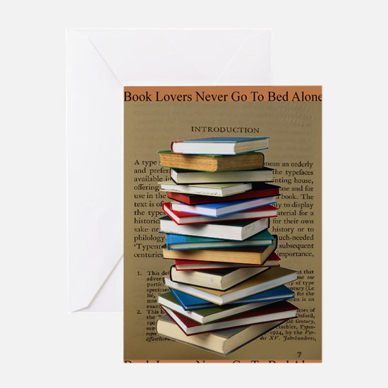 Book Lovers Blanket 2 Greeting Card