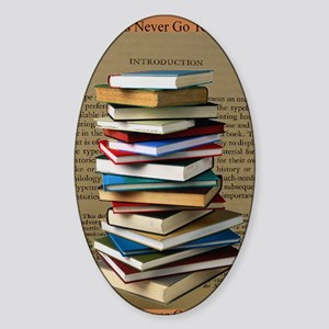 Book Lovers Blanket 2 Sticker (Oval)