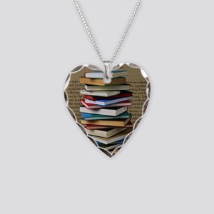 Book Lovers Blanket 2 Necklace Heart Charm