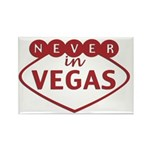 Never in Vegas Rectangle Magnet (10 pack)