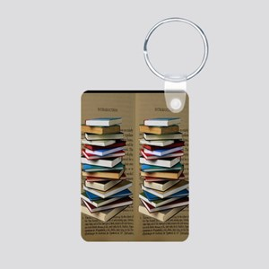 Book Lovers Flip Flops Aluminum Photo Keychain