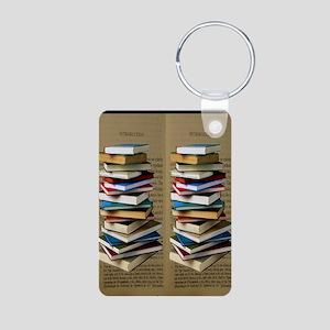 50e700da4f4956 Book Lovers Flip Flops Aluminum Photo Keychain
