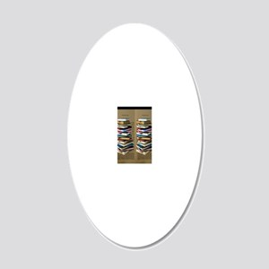 Book Lovers Flip Flops 20x12 Oval Wall Decal