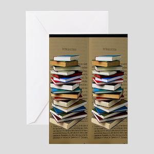 Book Lovers Flip Flops Greeting Card