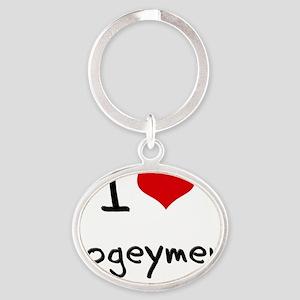 I Love Bogeymen Oval Keychain