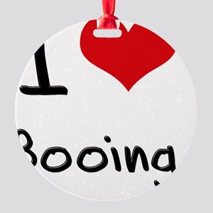I Love Booing Round Ornament