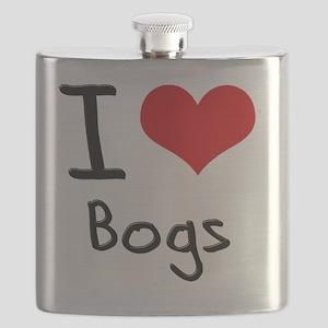 I Love Bogs Flask
