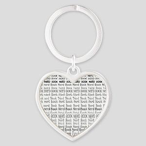 Book Nerd WORDS BLANK Heart Keychain