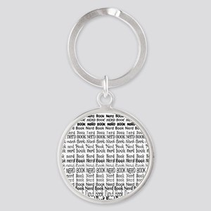 Book Nerd WORDS BLANK Round Keychain