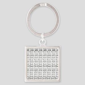 Book Nerd WORDS BLANK Square Keychain