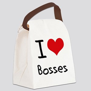 I Love Bosses Canvas Lunch Bag