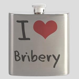 I Love Bribery Flask
