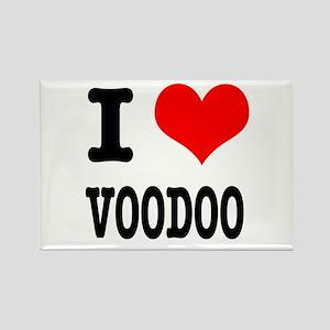 I Heart (Love) Voodoo Rectangle Magnet