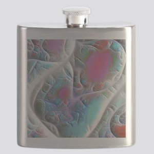 Blue and White, Quilt or Map? Flask