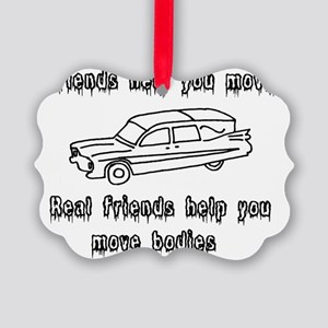 Hearses and friends Picture Ornament