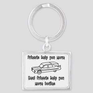 Hearses and friends Landscape Keychain