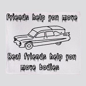 Hearses and friends Throw Blanket