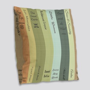 Book Lovers Burlap Throw Pillow