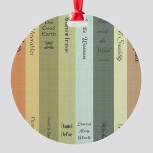 Book Lovers Round Ornament