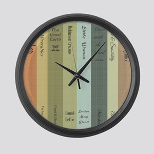 Book Lovers Large Wall Clock