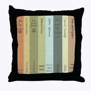 Book Lovers Throw Pillow
