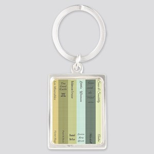 Book Lovers Portrait Keychain
