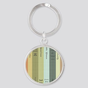 Book Lovers Round Keychain