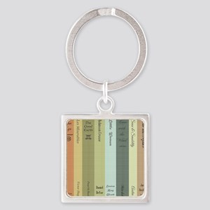 Book Lovers Square Keychain