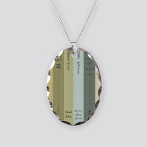 Book Lovers Necklace Oval Charm