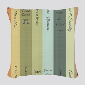 Book Lovers Woven Throw Pillow