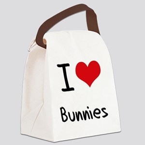 I Love Bunnies Canvas Lunch Bag