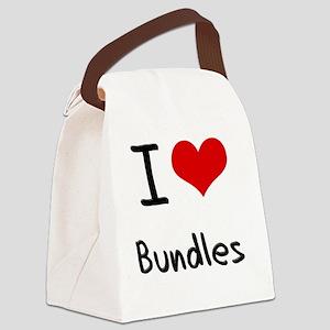 I Love Bundles Canvas Lunch Bag