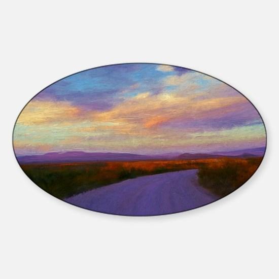A Desert Road Sticker (Oval)