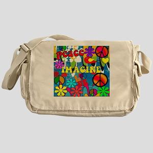 Retro Peace Symbols Messenger Bag