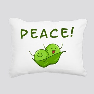 Peace Rectangular Canvas Pillow
