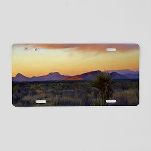 a desert evening Aluminum License Plate