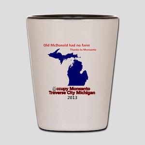 Occupy Monsanto Traverse City Michigan Shot Glass