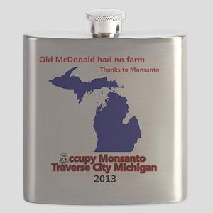 Occupy Monsanto Traverse City Michigan Flask