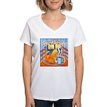 Tea for Me (Cat) Women's V-Neck T-Shirt