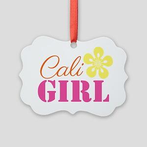 Cali Girl Picture Ornament