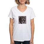 Tort Calico Women's V-Neck T-Shirt