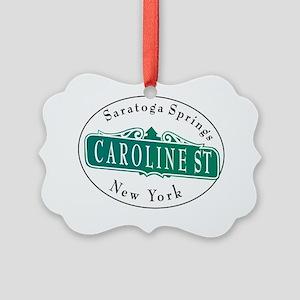 Caroline Street, Saratoga Springs Picture Ornament