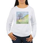 California Tree Watercolor Women's Long Sleeve T-S