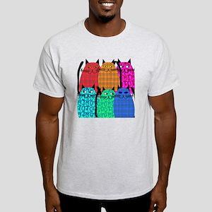 cat Shower Curtain 3 Light T-Shirt