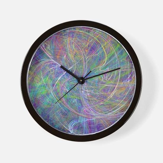 Heart of Light – Abstract Flames Swirls Wall Clock
